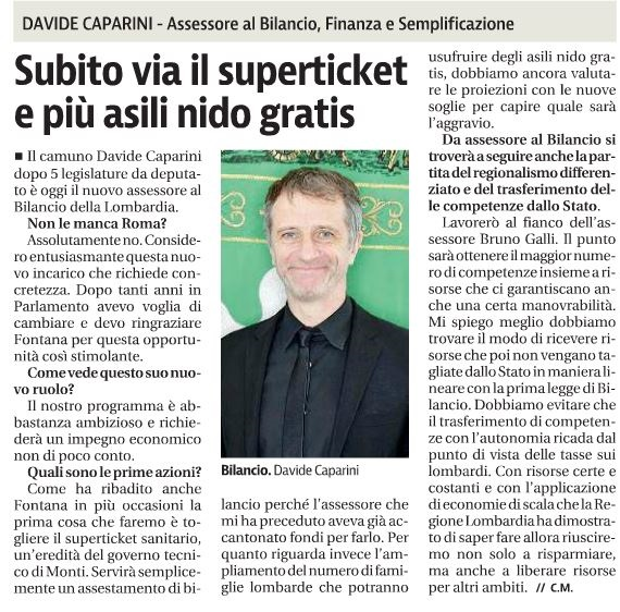 Davide caparini for Camera deputati rassegna stampa
